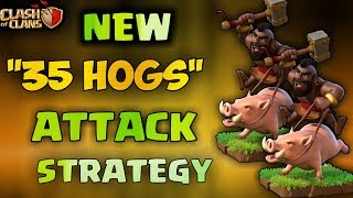 35 HOG VS MAX TH10   Best New 3 Stars Attack Strategy   After New Update 2018   Clash Of Clans