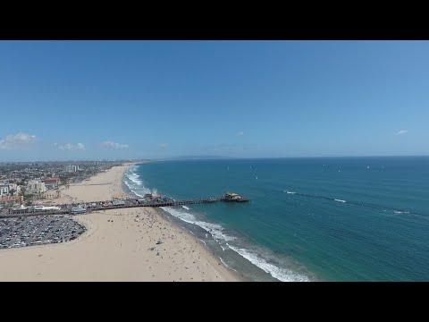Drone Footage Santa Monica