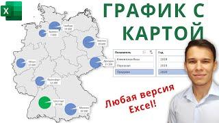 Построение графика с картой в Excel (работает с ЛЮБОЙ версией Excel!)