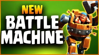 Official BATTLE MACHINE Spotlight NEW HERO | Builder Base Boat Update | Clash Of Clans
