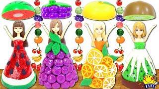 リカちゃんがフルーツドレスに変身❤︎ スイカや果物ワンピースを粘土で手作りDIY❤︎ 悪い魔女に小さいフィギュアにされる!? Sparkle Fruit Dresses たまごMammy