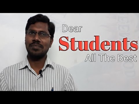 All The Best To 10th class Students// By: Param Jyothi// Principal Brilliant Grammer High School// N