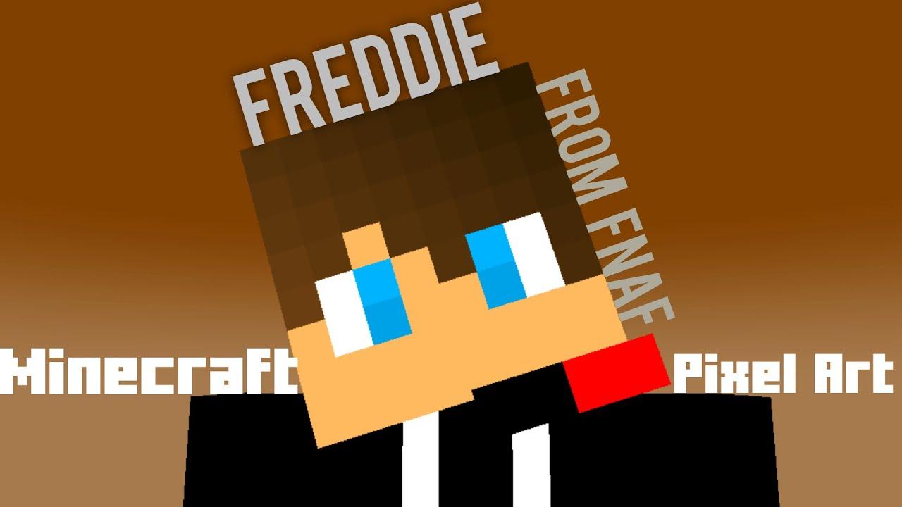 freddie from fnaf pixel art  minecraft pixelart episode 3