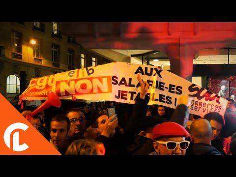 Les forains perturbent l'inauguration des illuminations (22 novembre 2017,  Champs Elysées, Paris)