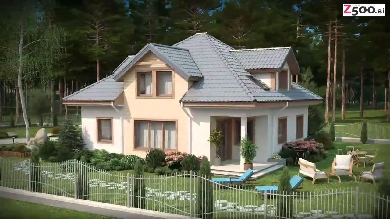 3D vizualizacija tipskega projekta hiše Z49 - www.z500.si - YouTube