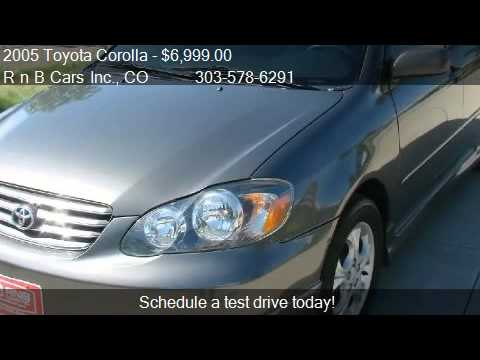2005 toyota corolla xrs salvage title for sale in denver c youtube. Black Bedroom Furniture Sets. Home Design Ideas