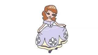 How To Draw Princess Sofia From Sofia The First Episodes In Full