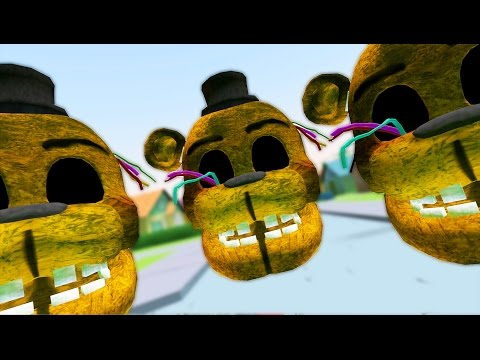 ATTACK OF THE GIANT WITHERED GOLDEN FREDDY HEADS! | Gmod FNAF Sandbox (Garry's Mod)