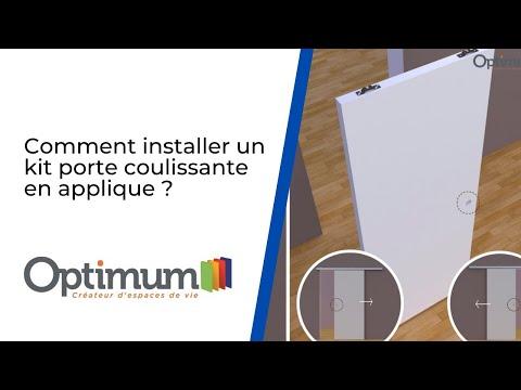 Comment installer une porte coulissante en applique ? Kit Optirail par Optimum
