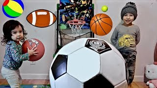 Learn Different Sport Ball Names for Children - Toddlers Learning and Playing with Sports Toys