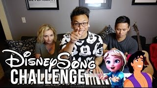 Disney Song Challenge - Young Elsa vs Aladdin | AJ Rafael