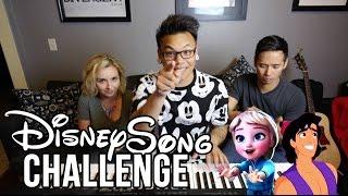 Repeat youtube video Disney Song Challenge - Young Elsa vs Aladdin | AJ Rafael