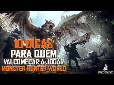Monster Hunter World - 10 DICAS PARA QUEM VAI COMEÇAR A JOGAR MHW!