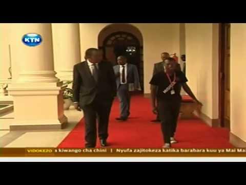 Otonglo Meets Uhuru Kenyatta at Statehouse