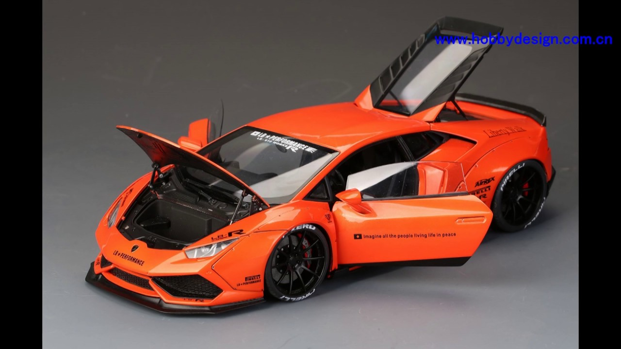 1 18 Lb Lamborghini Huracan Finish Car Model Orange Color Youtube