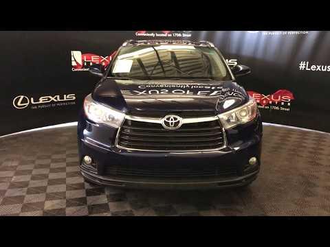 Blue 2015 Toyota Highlander Limited Review Edmonton Alberta - Lexus of Edmonton