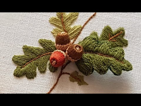Stumpwork Tutorial (French Embroidery): Amazing 3-D Leaf (Part 2)