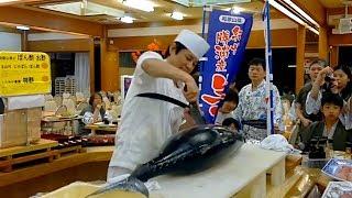 Японские Традиции, Шоу Тунца, Разделка на Филейные Части, Морепродукты Япония