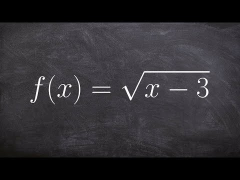 Writing the inverse of a function given a square root