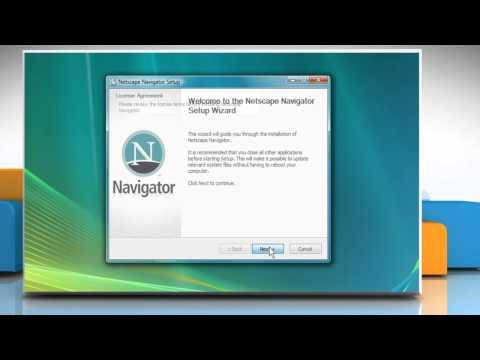 Install Netscape® 9 on Windows® Vista
