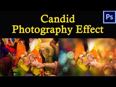 Candid photography Effect create in Photoshop Hindi tutorial thumbnail