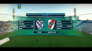 Fútbol en vivo Vélez - River Fecha 29 Primera División 2015 FPT