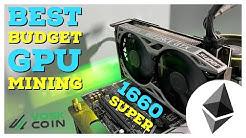 BEST New Budget GPU For Mining? Nvidia 1660 Super Mining Hashrates Review!