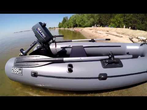 Лодка Пеликан 285Т мотор SEA-PRO 2.5S обкатка мото