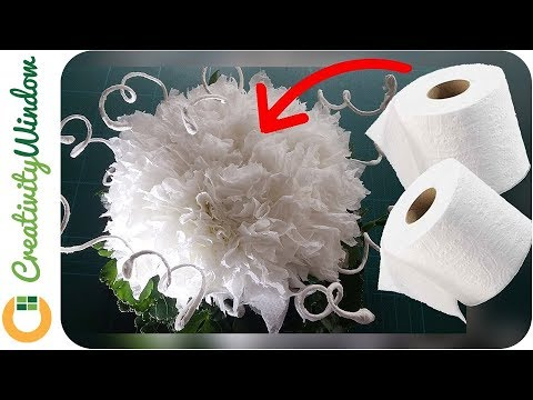 From toilet paper to a beautiful white flower from toilet paper to a beautiful white flower mightylinksfo