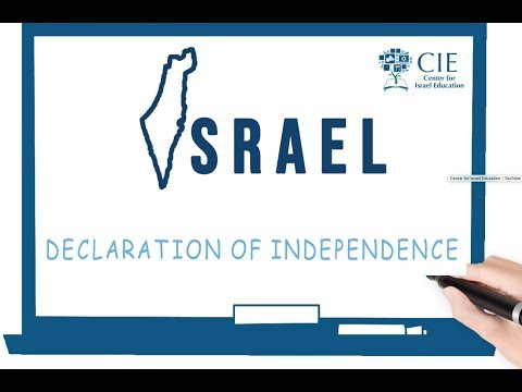 Israel On Board - Declaration Of Independence
