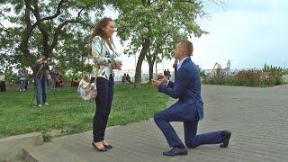Незабываемое Свадебное предложение-флешмоб в Одессе