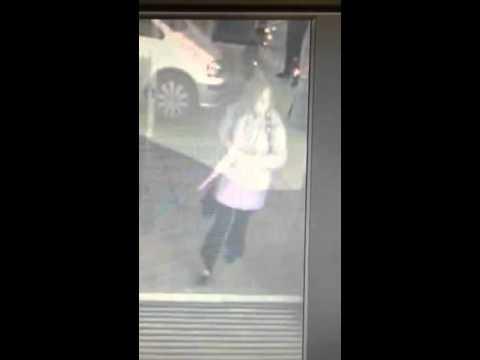 Woman Walks Into A Glass Window Youtube