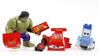 Disney cars Guido and Hulk Assembly Cars3 Lightning McQueen Building Blocks Toys movie for Kids