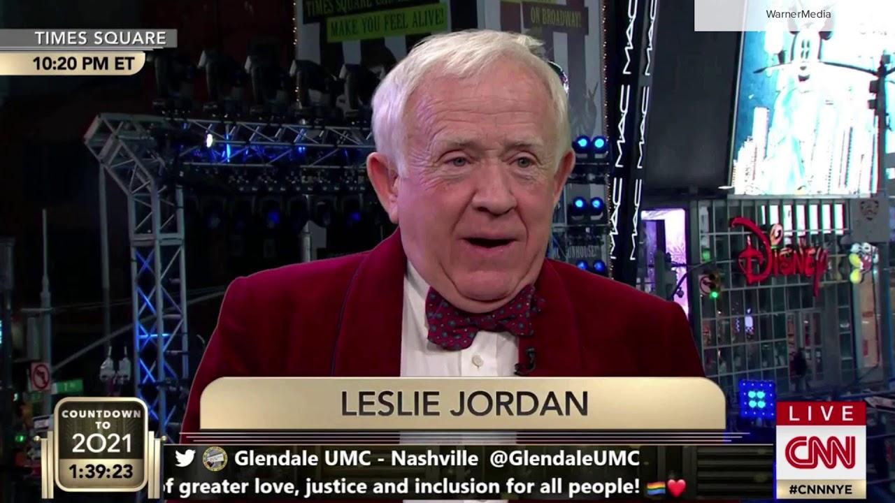CNN New Year's Eve Leslie Jordan 'beams' in from west coast