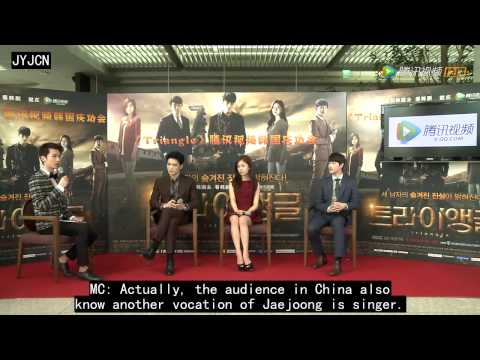 [Eng sub]140630 Tencent Interview of Triangle Cast full ver 28min