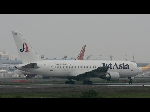[D7100]Jet Asia Airways Boeing 767 Take-off RWY16R!!成田空港