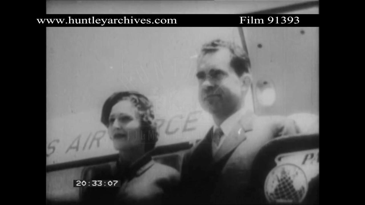 Vice President Richard Nixon Visits Venezuela In 1958 Archive Film