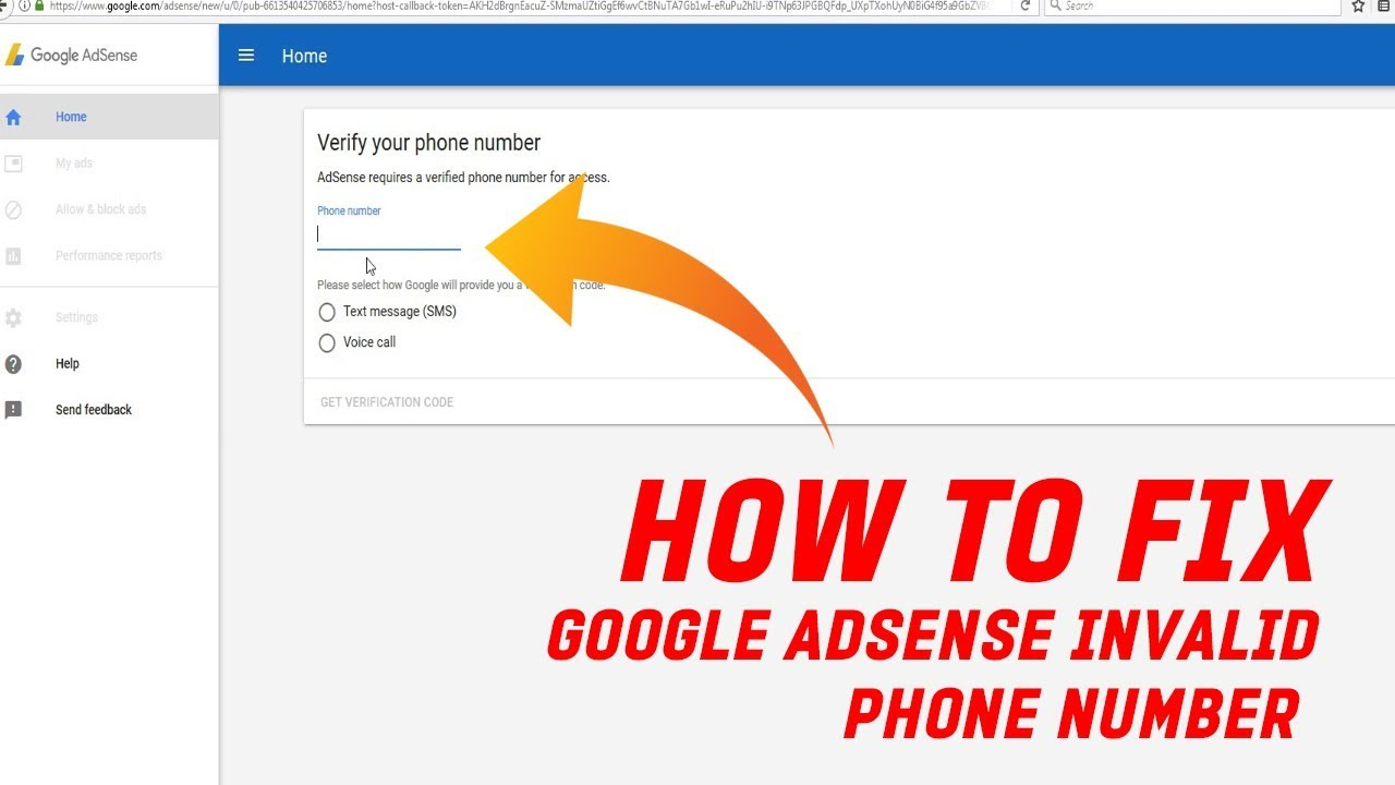 How To Fix Adsense Invalid Phone Number