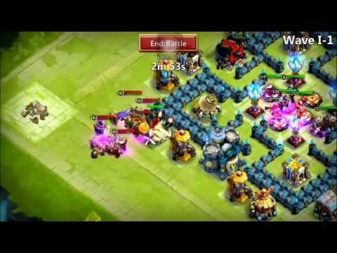 Castle Clash: How F.Bear Clears HBM - Here Be Monster Stage I (Heroes, Skill Level And Talent)