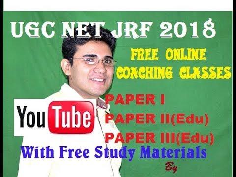 UGC NET JRF 2018, PAPER I, PAPER II (EDUCATION), PAPER III (EDUCATION)