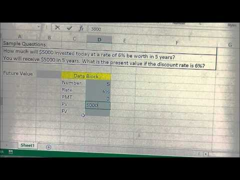 Present Value and Future Value calculator template in Excel