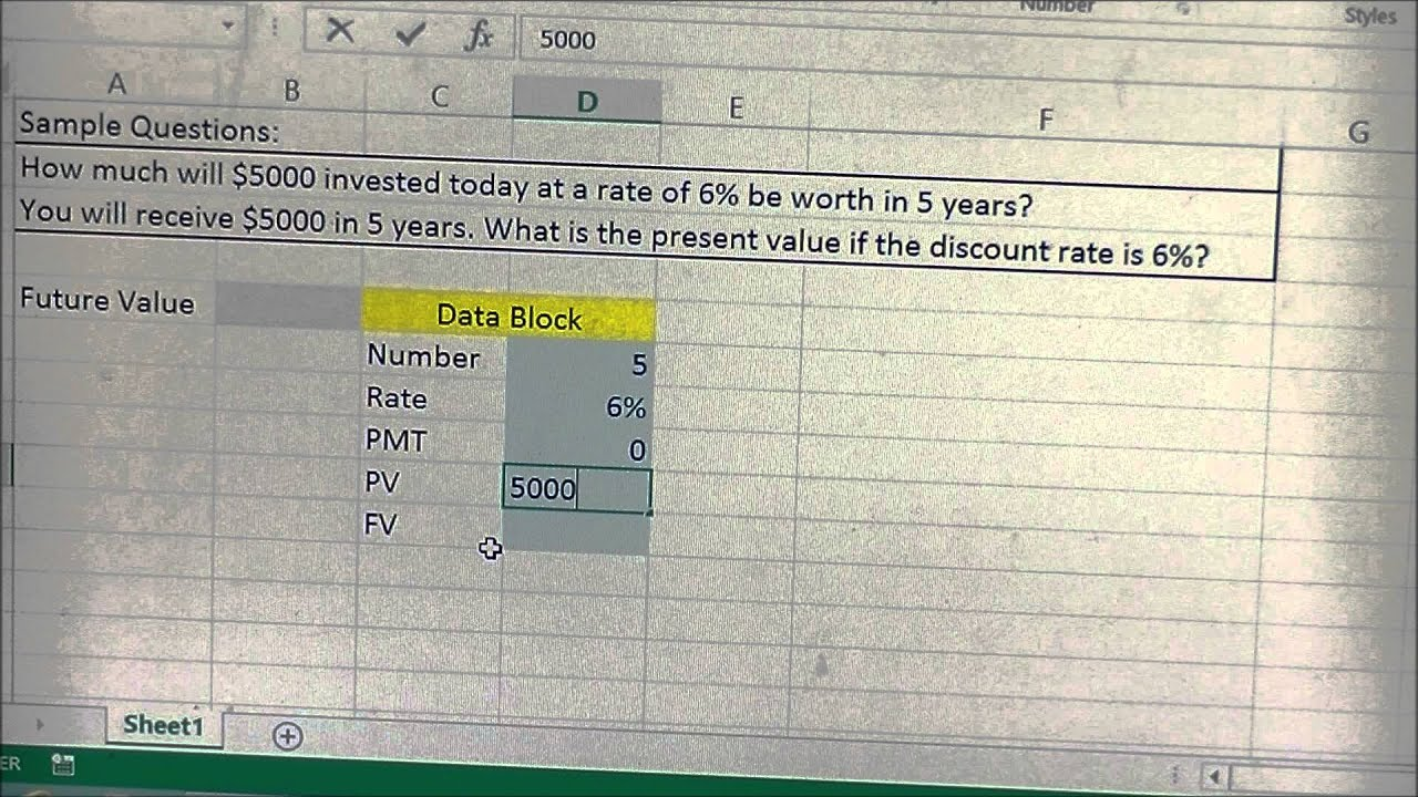 future value excel template - present value and future value calculator template in