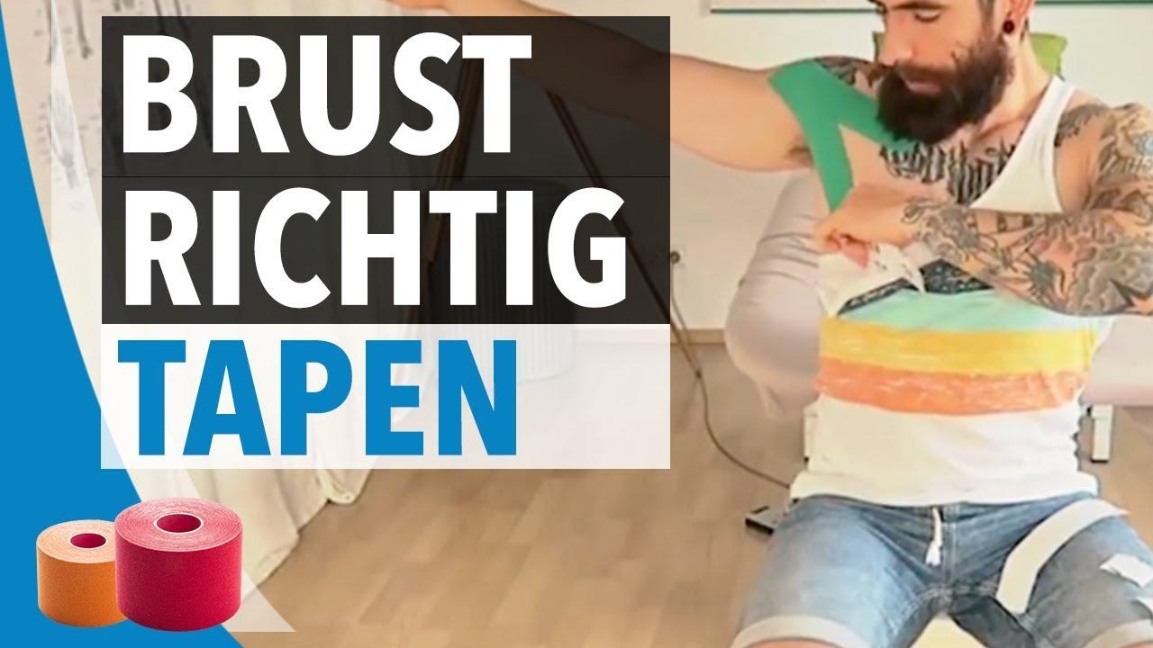 Brustmuskulatur Tapen Anleitung - Schritt für Schritt Kinesiology ...