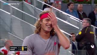 Dramatic Final Moments to EPIC Tsitsipas v Nadal Match | Madrid Open 2019