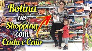 Rotina no Shopping Primeira vez do Bebê Caio Augusto