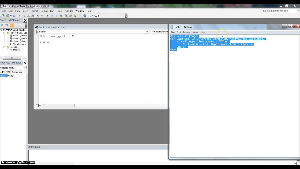 Excel 2010 converting hyperlinks to urls
