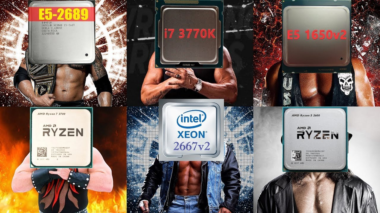 Сборная солянка: e5 2689 vs 3770k vs 1650v2 vs Ryzen 2600 vs Ryzen 2700 vs 2667v2