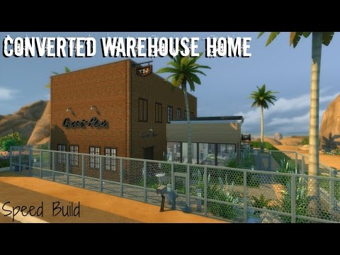 Converted Warehouse Home -- Sims 4 -- Speed Build