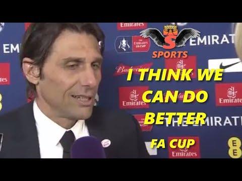 Chelsea 1-0 Manchester United - Antonio Conte Post Match Interview FA Cup Final