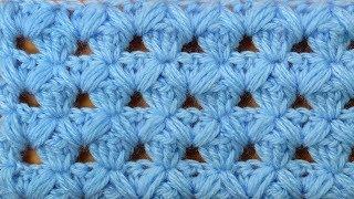 Фантастически красиво! Ажурный узор вязания крючком Openwork crochet video pattern  124
